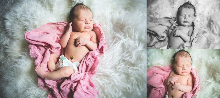 newborn girl portrait austin lifestyle