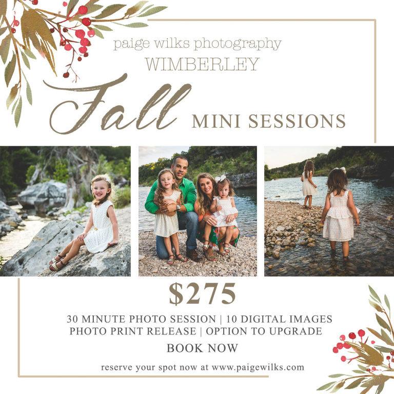 wimberley mini fall session